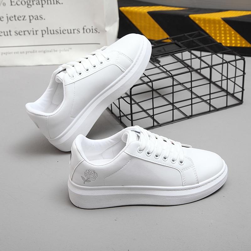 2019 Spring New Designer Women Wedges White Shoes Female Platform Sneakers Women Sapatos Feminino Female Running Shoes Woman