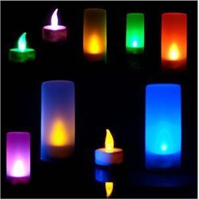 Romantic Voice Control LED Candle Lights Lamps Night Lights Christmas Home Outdoor Indoor Birthday Party Luminarias Decoration