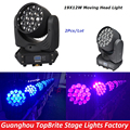 Free Shipping Hot Sales 2XLot Led RGBW 4IN1 Wash Zoom 19x12W LED Beam Wash Moving Head Light For Stage Dj Disco Laser Projector