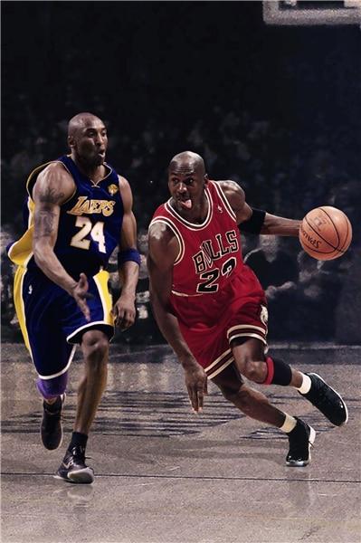 revendeur b4395 d0858 € 9.69 18% de réduction|Décoratif Kobe Bryant affiche Michael Jordan  autocollant personnalisé toile basket ball papier peint enfants mur  autocollant ...