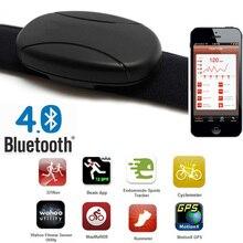 Kalp hızı ölçer Bluetooth nabız sensörü kardiyo spor göğüs kemeri kemer nabız monitörü Polar tarzı kalp hızı ölçer spor için