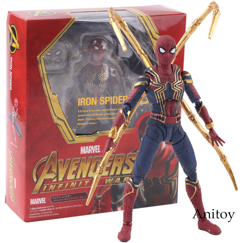 SHF Marvel Avengers Infinity War Iron Spider Spiderman Hot Toys PVC Action Figure Collectible Model Toy