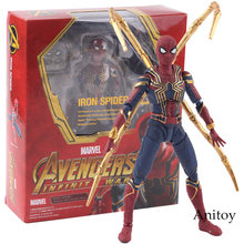SHF S. h. figuarts Aranha Spiderman Marvel Avengers Ferro Guerra Infinito Quente Brinquedos PVC Action Figure Collectible Modelo Toy(China)
