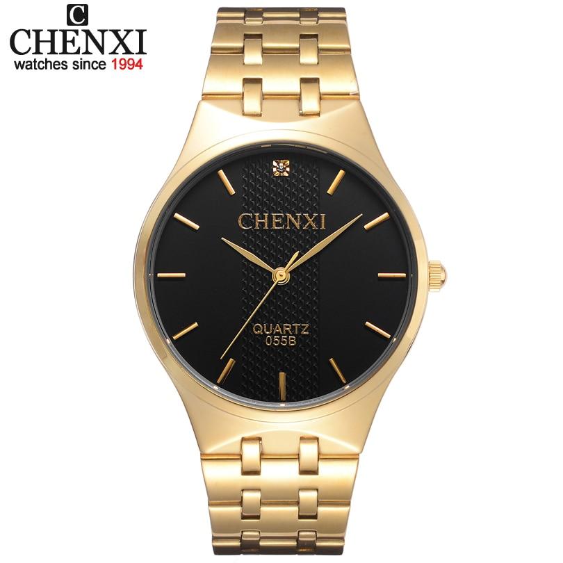 Lovers Gold Watch Men Watches Luxury Brand Famous Wristwatch Female&Male Clock Golden Stainless Steel WristWatch Quartz Original
