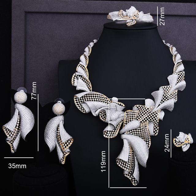 Exclusive Super Luxury Flower Cubic Zirconia Jewelry Set