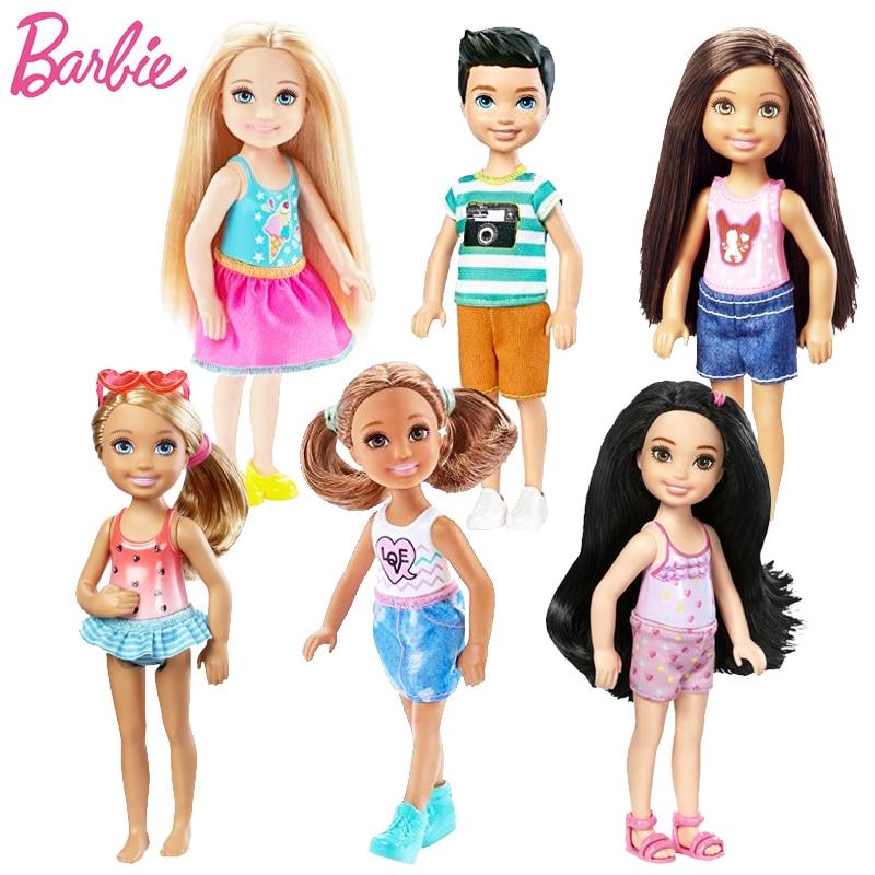 1 Pcs Mini Poupées Barbie Originale Modèle Aléatoire Mignon Jouet Pour Fille D'anniversaire Enfants Cadeaux De Mode Poupées Pour Les Filles DWJ33