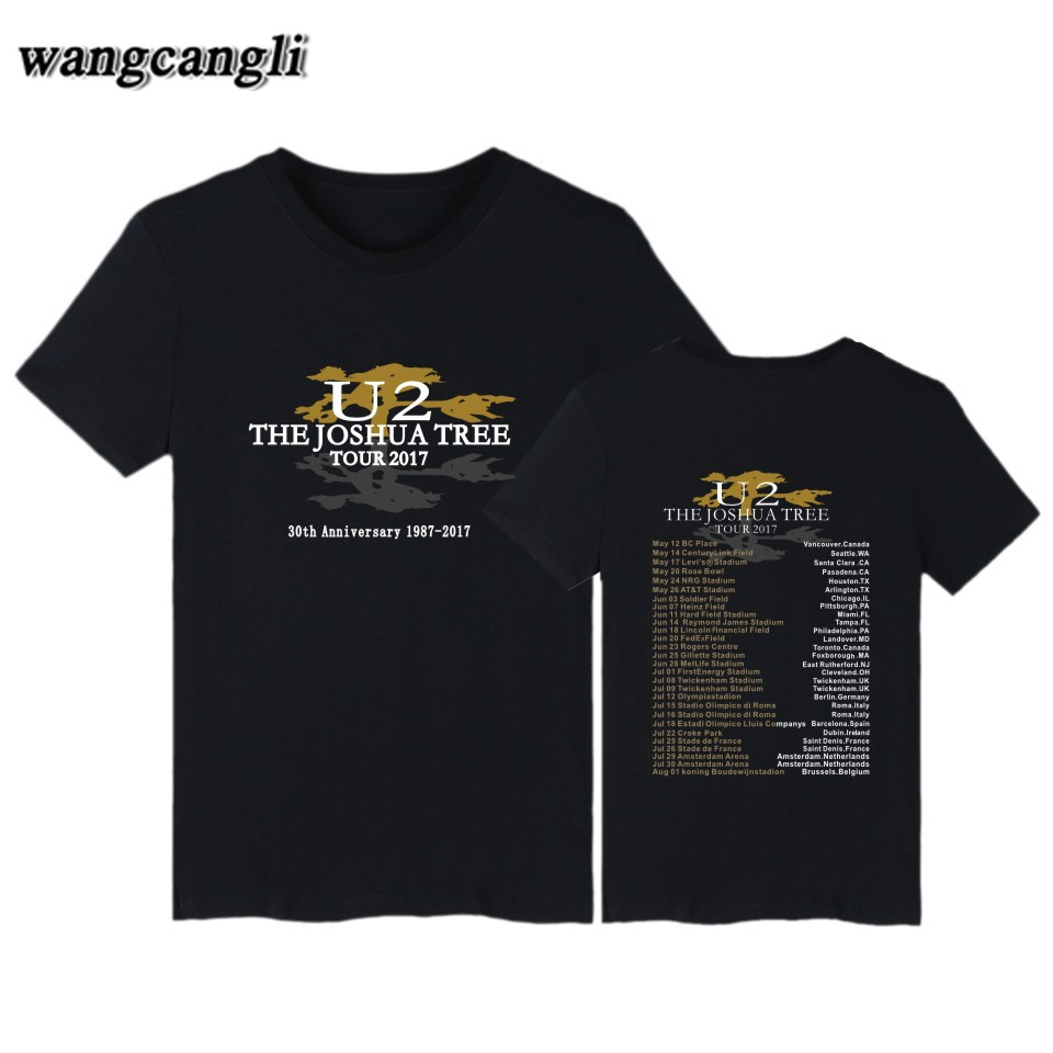 U2 Band Printed T Shirt Men Women Short Sleeve T-shirt Fashion Hip Hop Tshirt Harajuku Streetwear T Shirts Tops Brand Clothes