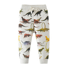 Baby Pants trousers for boy dinosaur printed children clothes animals full pants 2018 Autumn Winter Length Children Pants