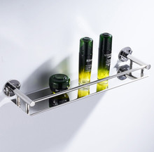 Bathroom Lavatory Shelf 304 Stainless Steel Storage Wall Organizer Little Vanity Mount Shampoo Holder