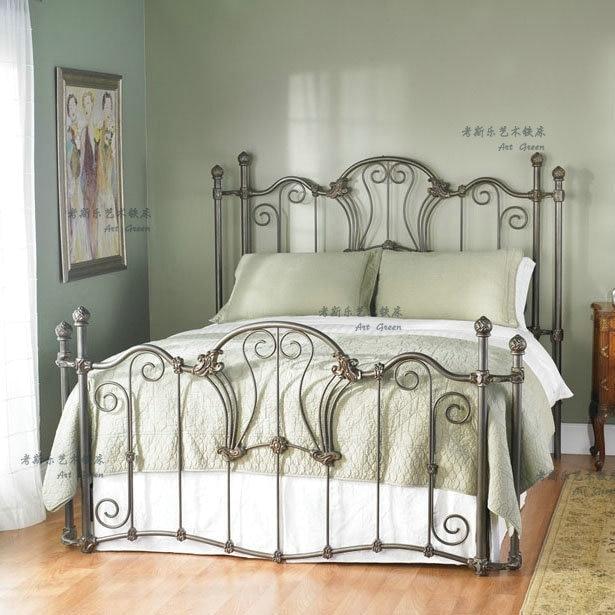 Baratos de am rica ikea hierro cama de madera s lo 1 2 1 5 - Camas de ikea ...