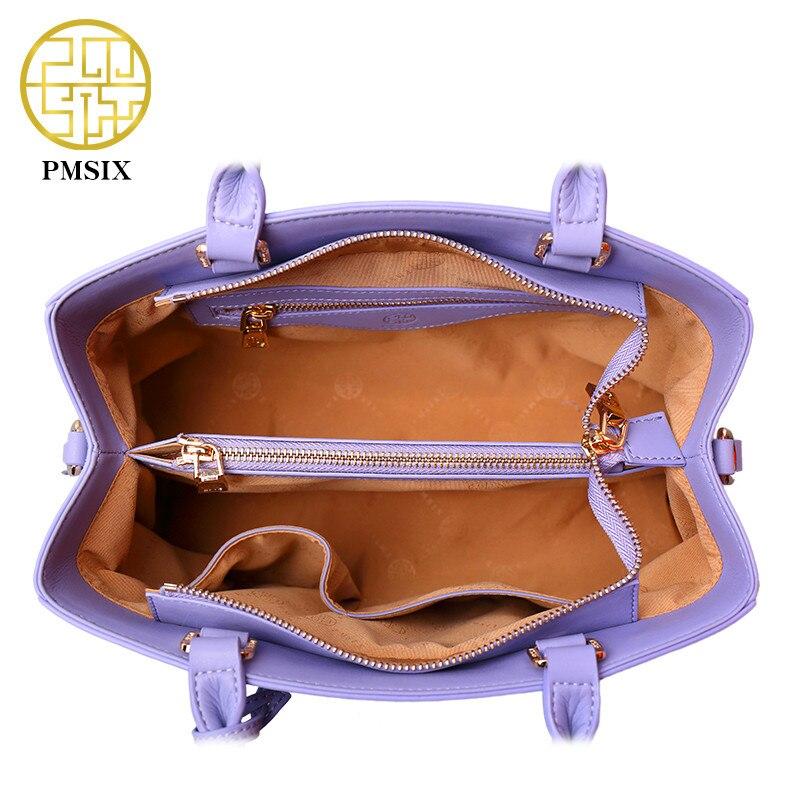 Pmsix Dames Vee Split Leathe Tas Nieuw Ontwerp Dames Messenger Bags - Handtassen - Foto 6