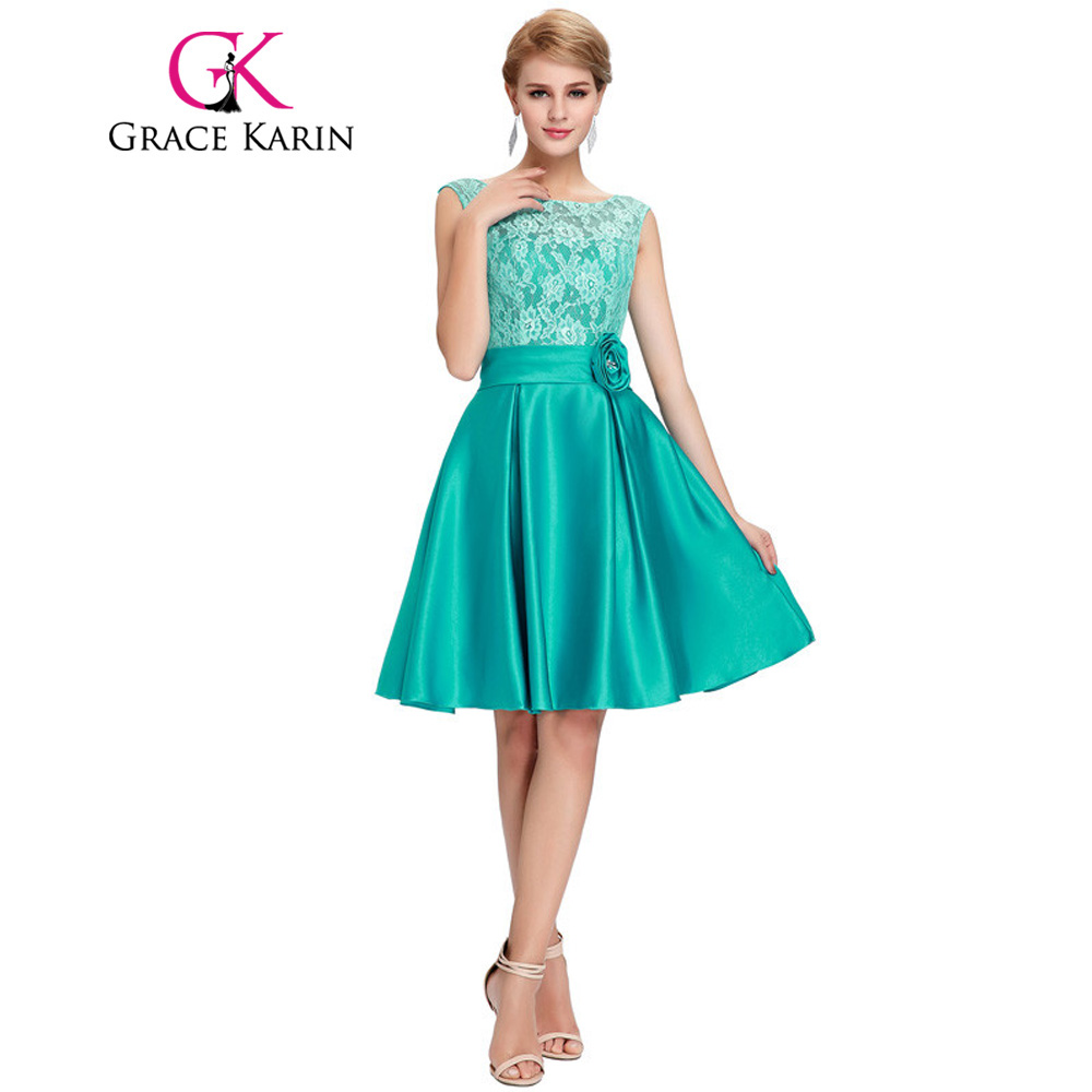 Grace karin cute short bridesmaid dresses knee length satin lace a grace karin cute short bridesmaid dresses knee length satin lace a line charming green purple blue bridesmaid gown cl6116 in bridesmaid dresses from ombrellifo Gallery