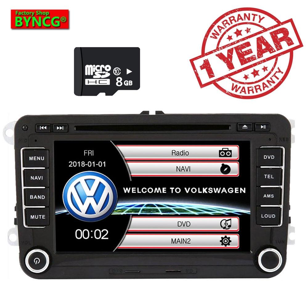 BYNCG Car Multimedia player 2 Din Car DVD For VW/Volkswagen/Golf/Polo/Tiguan/Passat/b7/b6/SEAT/leon/Skoda/Octavia Radio GPSBYNCG Car Multimedia player 2 Din Car DVD For VW/Volkswagen/Golf/Polo/Tiguan/Passat/b7/b6/SEAT/leon/Skoda/Octavia Radio GPS
