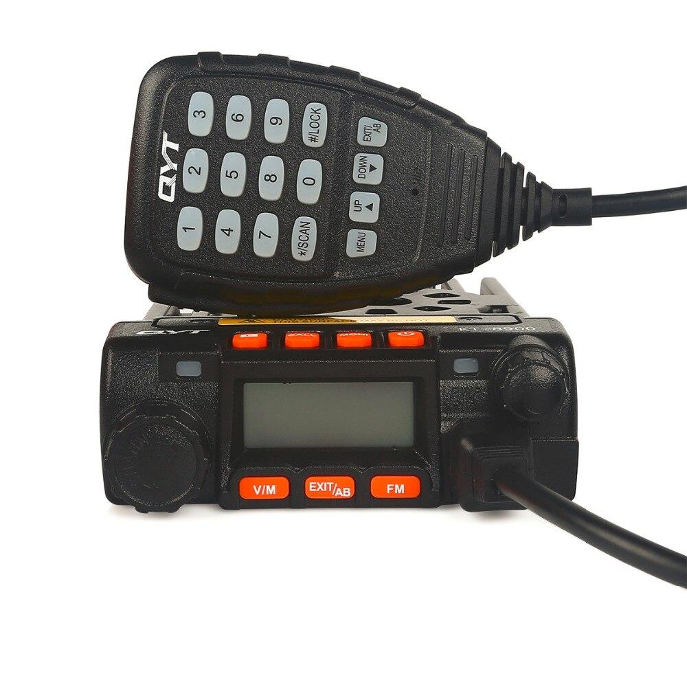 QYT KT8900 Mini Vehicle Transceiver CTCSS DCS 5Tone DTMF 136 174 400 480MHz VHF 25W UHF