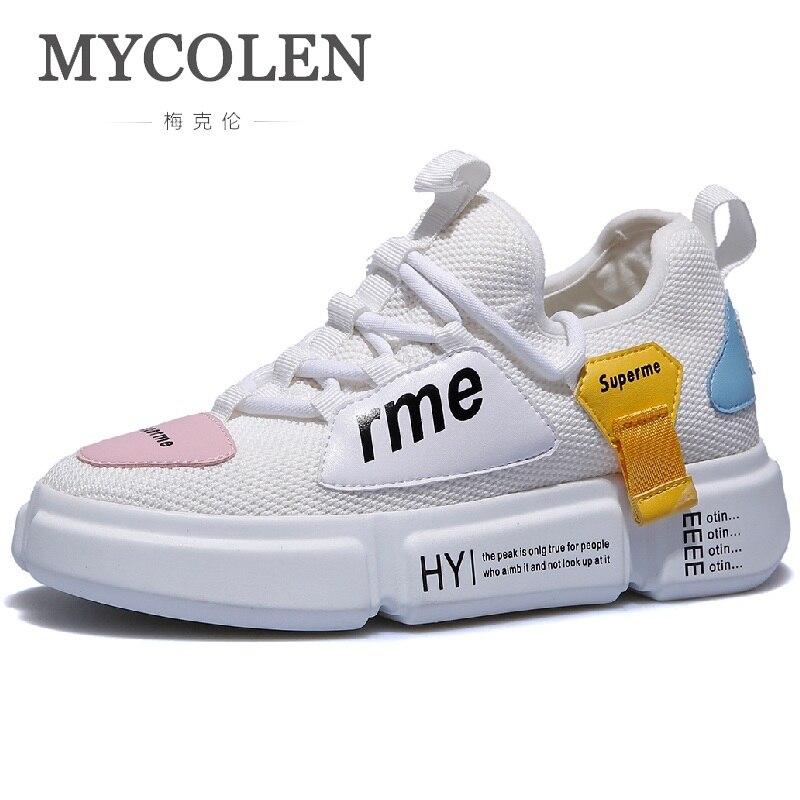 MYCOLEN New Sprin Autumn Fashion Women Casual Shoes Leather Platform Shoes Sneakers Ladies Black White Trainers Tenis Feminino все цены