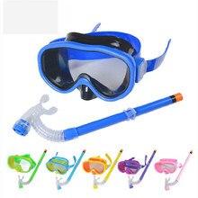 005762512 Novas Crianças Óculos de Proteção Anti-Nevoeiro Óculos de Natação Máscara  de Mergulho Snorkel Mergulho