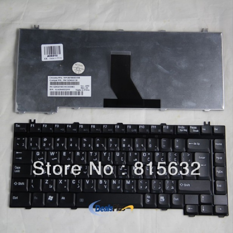 New Laptop ARABIC keyboard For Toshiba Satellite A10 A100 M10 M100 P10 AR Version Black-V-0522BIAS1-AR, wholesale !