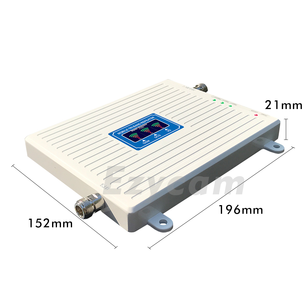 Image 5 - 2G 3G 4G Tri Band Signal Booster GSM 900+DCS/LTE 1800+WCDMA/UMTS 2100 Cell Phone Signal Repeater 900 1800 2100 Signal Amplifier-in Signal Boosters from Cellphones & Telecommunications