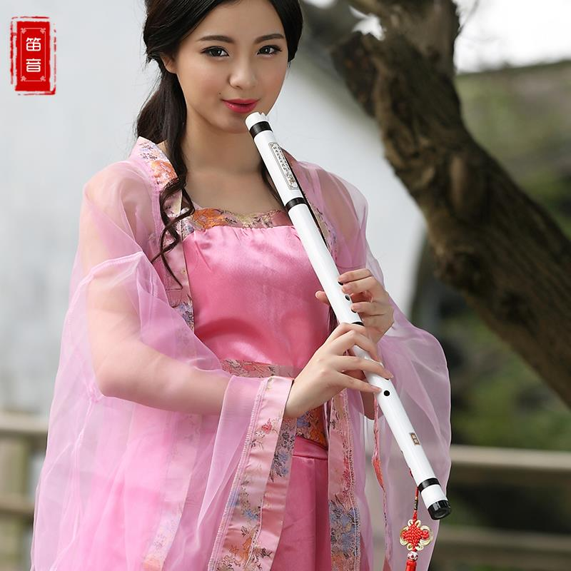 ФОТО The flute xiao instrument Beginners purple bamboo flute eight holes A white section made by 805 g F key