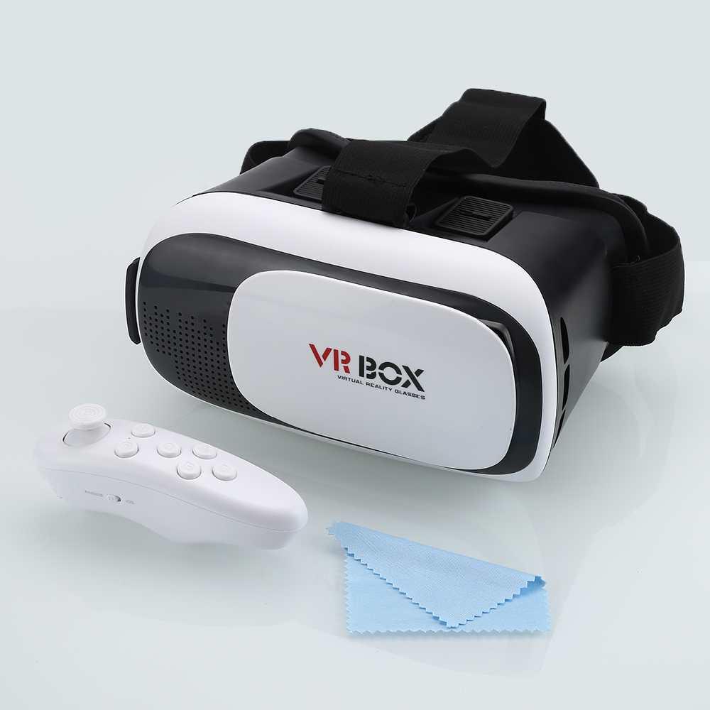 Gafas 3d google cartón caja segundo vr realidad virtual gafas 3d bluetooth contr