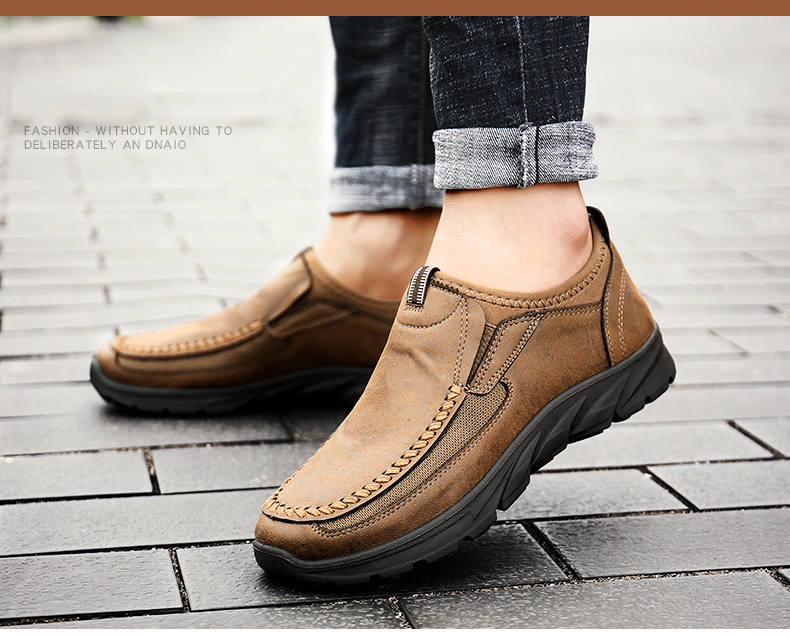 HTB15rUValOD3KVjSZFFq6An9pXaM Men Casual Shoes Loafers Sneakers 2019 New Fashion Handmade Retro Leisure Loafers Shoes Zapatos Casuales Hombres Men Shoes