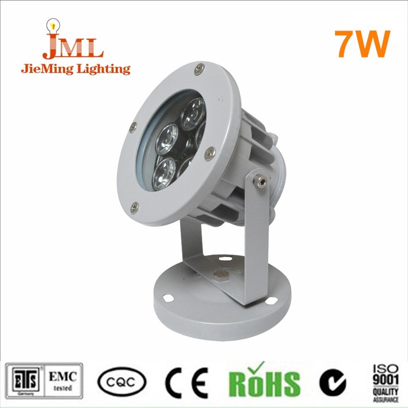 12v 24volt outdoor ip65 ip67 color changing multi color rgb dmx 7w led flood