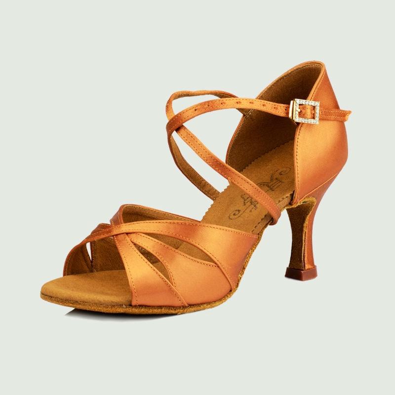 Modern Women Latin Dance Shoe Social Dancing Sneakers Adult Sports Shoe Fitness Breathable Buckle Flesh Color