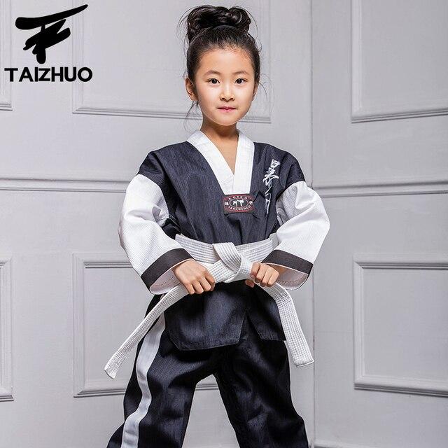 Taekwondo dobok kleidung kind erwachsene ITF Karate anzug uniform Weiß TKD Kleidung