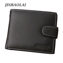 Men Wallets 100% Genuine Leather Wallet Fashion Design Brand Casual Style Multifunction Male Card Holder With Coin Pocket