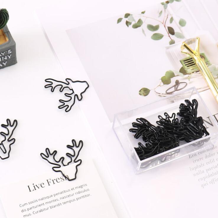 10pcs/lot Creative Kawaii Milu Deer Unicorn Paper Clip  Animal Metal Bookmark File Memo Decorative Clips School Stationery