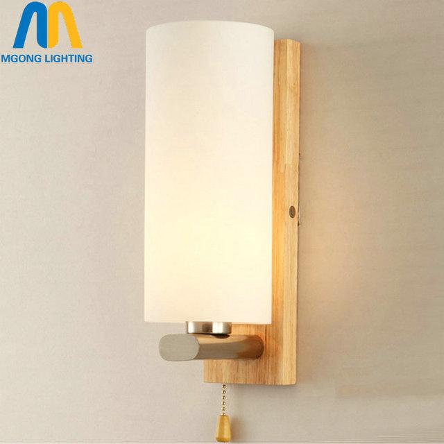 Bois led loft vintage mur lampe lumi res avec interrupteur - Interrupteur pour lampe de chevet ...