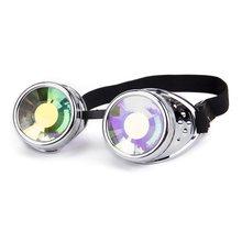 d1dfff3b1 Moda Das Mulheres Dos Homens Steampunk Goggle Lente Colorida Desgin Estilo  Punk Óculos Caleidoscópio Íris Lentes De Cristal de P..