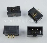 100pcs IDC Box Header DC3 DC3 6P 2x3 6 Pins 6P 2 54mm Pitch