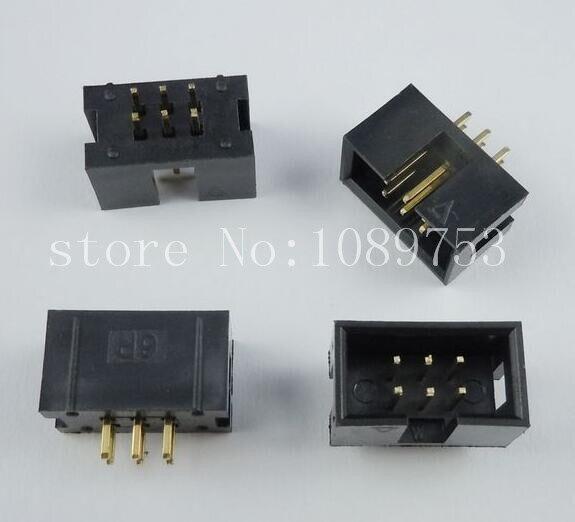 100pcs IDC Box header DC3 DC3-6P 2x3 6 pins 6P 2.54mm Pitch 100pcs idc box header dc3 dc3 6p 2x3 6 pins 6p 2 54mm pitch