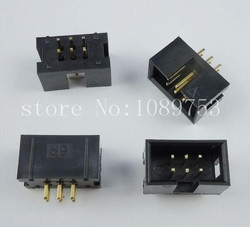 100pcs IDC Box header DC3 DC3-6P 2x3 6 pins 6P 2.54mm Pitch