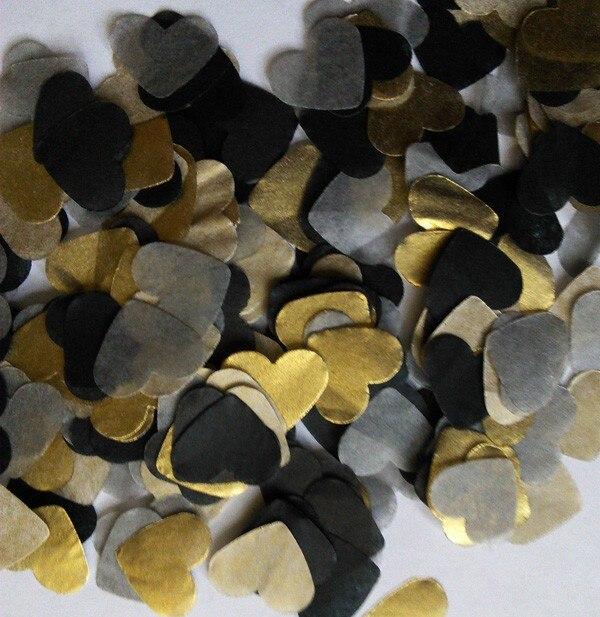 Us 479 Freies Schiff Lot Von 30g Schwarz Gold Silber Vintage Seidenpapier Herz Konfetti Hochzeit Geburtstag Party Tischdekoration Pinata