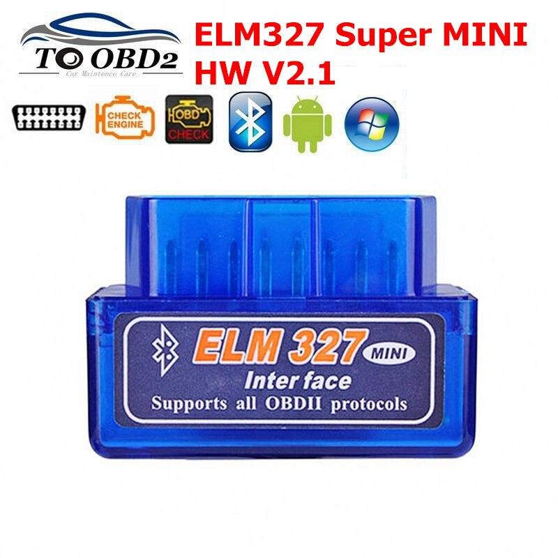 ELM327 Bluetooth Super Mini V2.1 OBD II Auto Diagnose-Tool für Android ULME 327 2,1 Bluetooth OBD2 Code Reader