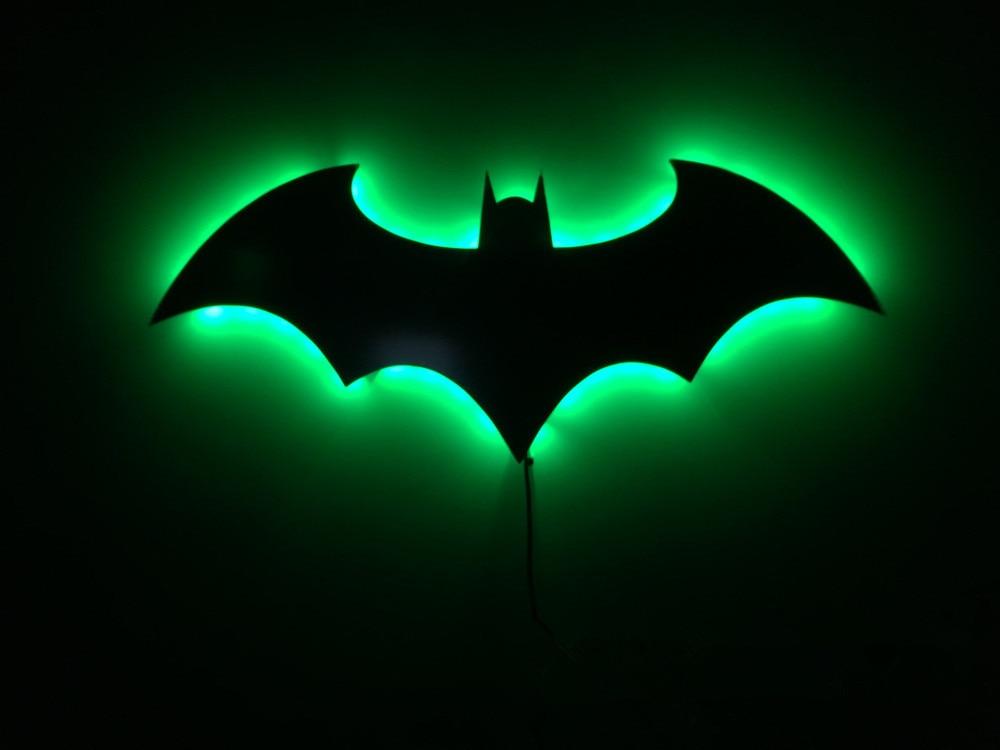 Aliexpress Buy Batman 3d Night Light Led Wall Lamp Batman