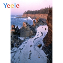 Yeele Seaside View Photographic Backdrops Waves Spring Island Cliff Scenery Photography Backgrounds Customized For Photo Studio