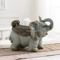 Cute Lovely Elephant Tissue Box Creative Desktop Paper Napkin Tissue Container For Living Room Tea Coffee Table Home Decor