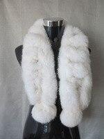 Sale!!!!!! chính hãng rabbit fur scarf bọc cape hai quả bóng cổ áo trắng vận chuyển miễn phí