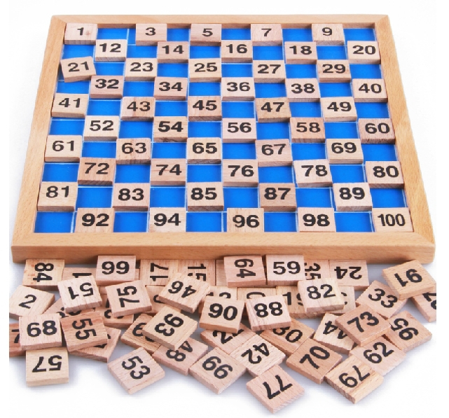 Montessori Educational Wooden Toys Digit Cognitive Math Toy Teaching Logarithm Version Kids Early Learning Gift