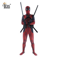 Deadpool Costume 3D Spandex Lycra The Avengers Full Body Second Skin Tight Suit Long Sleeve Zentai