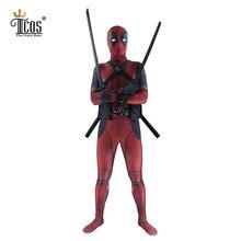 Дэдпул Косплэй костюм Человек Marvel Дэдпул-костюмы для взрослых Уэйд Уилсон нейлон, лайкра Zentai боди вторая кожа плотно
