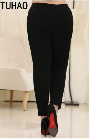 8xl 2019 Tamaño Cintura Pantalones Plus Elástico Agujero Verano 10xl Negro Tuhao Ms49 Mujeres Primavera 6xl Lápiz q8q1C