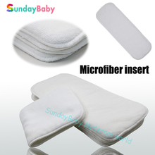 Baby cloth diaper microfiber insert for baby nappy washable newborn diaper insert, absorbent children insert