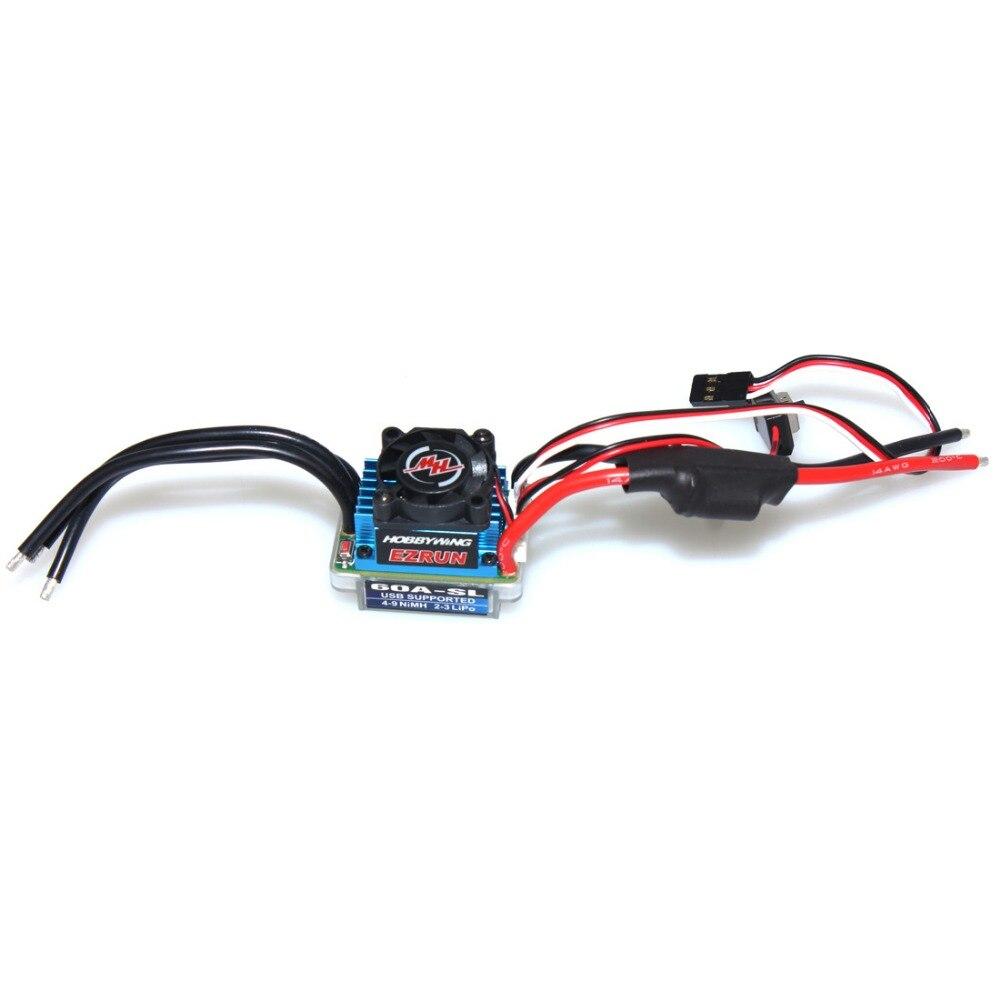 ФОТО Hobbywing EZRUN 60A SL  Speed Controller Brushless ESC Power System for 1/10 1/12  RC Car  F17807