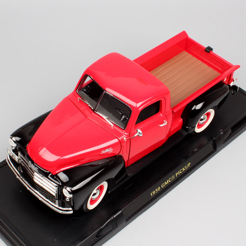 Children Classic old retro 1 18 Scale big 1950 GMC Pick up truck van die cast