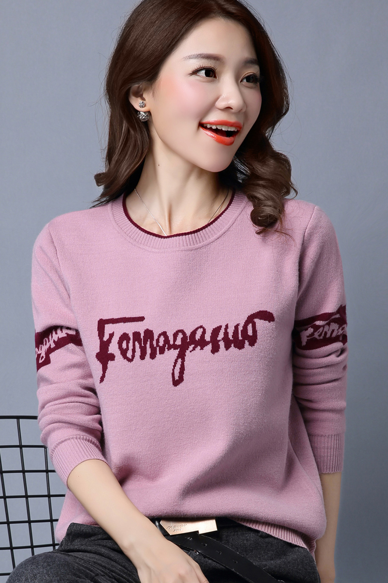 2019 Casual Women Sweater New Autumn Winter Round neck Sweater Women Short Knit Pullover Loose Korean Warm bottoming Sweater 755 in Pullovers from Women 39 s Clothing