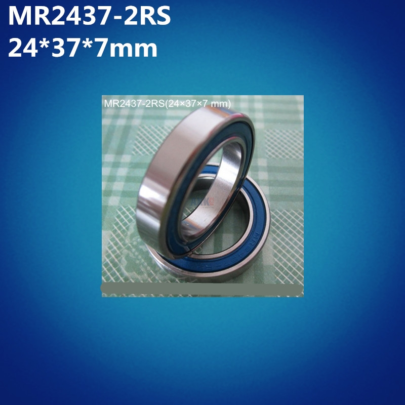 Free Shipping High Quality 2pcs MR2437-2RS (24*37*7mm) 2437 Balls Bicycle Bottom Bracket Repair Parts MR22237 2RS Ball Bearings
